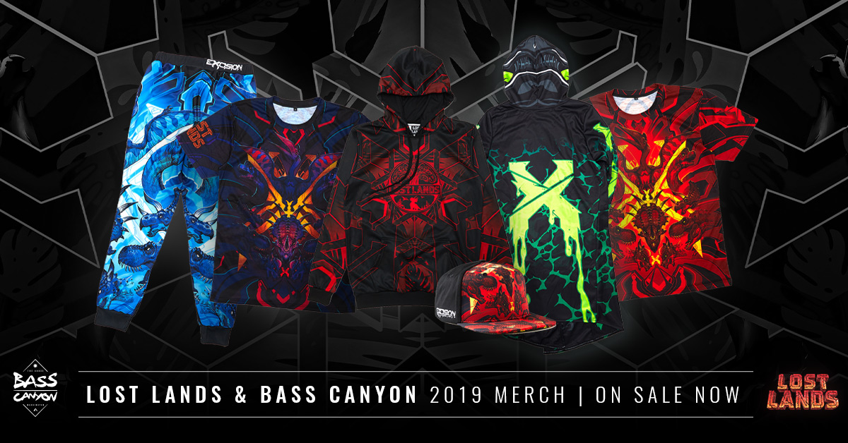 Lost Lands & Bass Canyon Merch Available Now!