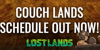 Couch Lands Schedule!